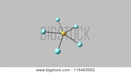 Bromine pentafluorid BrF5 is an interhalogen compound and a fluoride of bromine. It is a strong fluorination reagent. 3d illustration