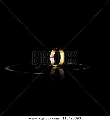 single golden ring