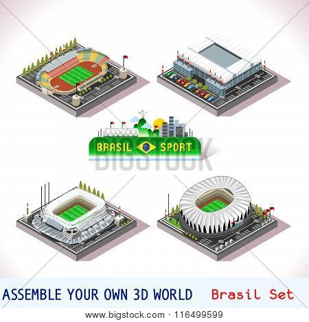 Game Set 10 Building Isometric