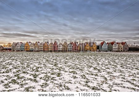 Jakriborg From Snow Covered Field