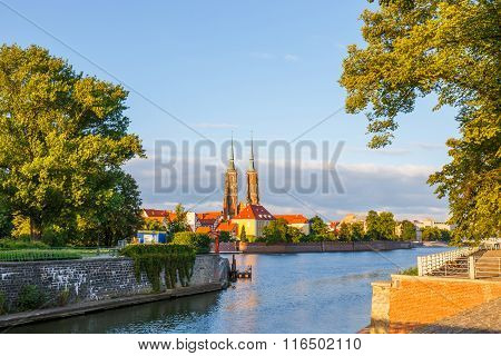 View Of The Cathedral Of St. John In Wroclaw, Poland