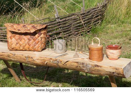 Handicrafts Made Of Birch Bark