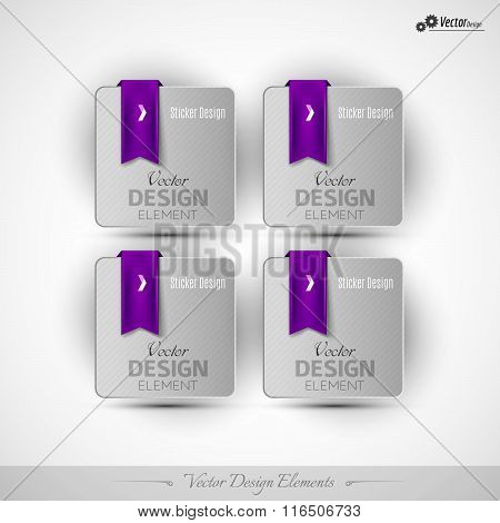 Business Stickers On The White Background For Infographics And Web Presentations. Vector Design Elem