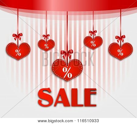 Valentines Sale Card