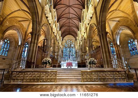 Interior Of St Mary's Cathedral In Sydney