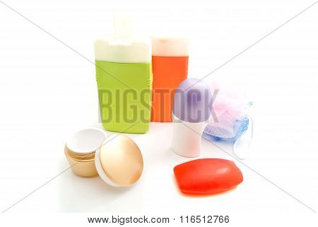 Red Soap And Other Toiletry