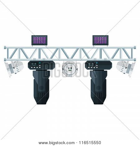 Flat Style Stage Metal Truss Concert Lighting Equipment.
