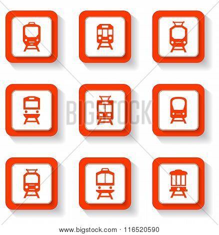 button trains set