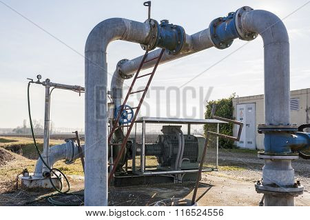 System for pumping irrigation water for agriculture poster