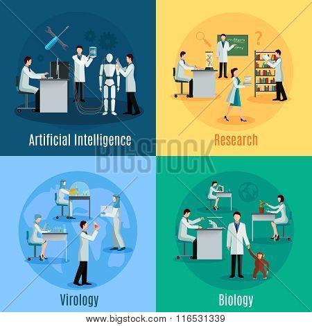 Scientists 2x2 Design Concept Set