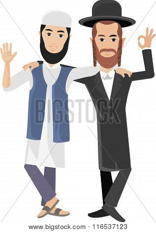 jew with arab