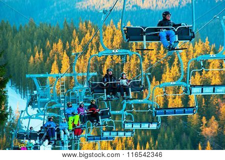 Lift At Ski Resort