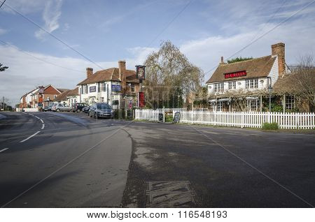Public Houses In An English Village