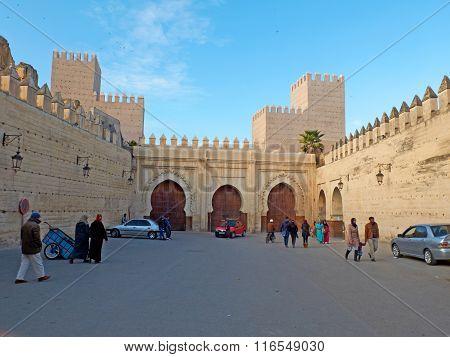 Bab Makina Plaza. Fez El Jedid, Morocco. Africa.