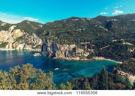 Corfu island landscapes in Greece.