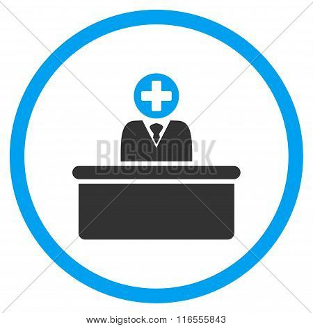 Medical Bureaucrat Rounded Icon