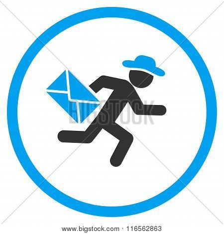 Man Mail Courier Rounded Icon