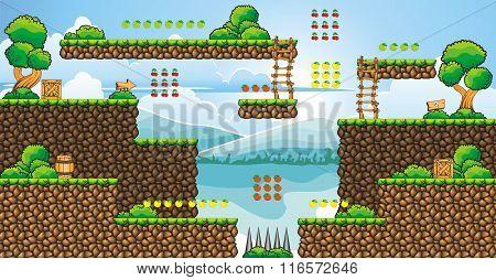 Tile Set Platform For Game 29.eps