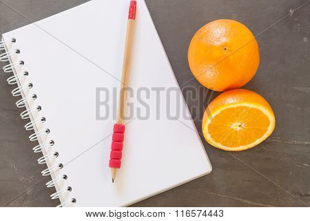 Shopping List With Healthy Fruits