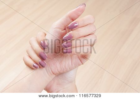 Manicure Nails And Woman Hand