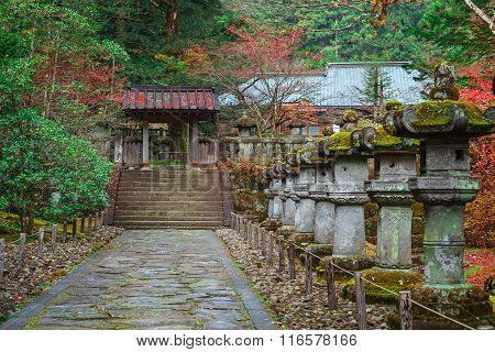 Taiyuinbyo - the Mausoleum of Shogun Tokugawa Iemitsu in Nikko, Japan poster