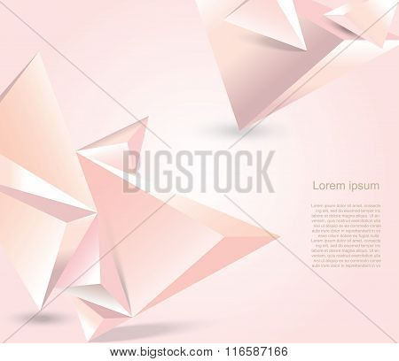 Geometrical Polygonal Design Background. Aabstract Form Suitable For Infographics, Book Cover