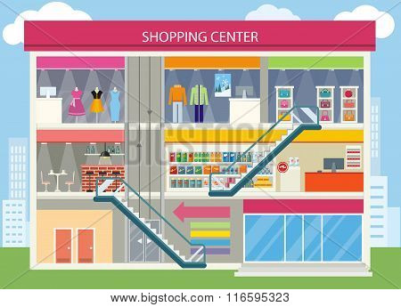 Shopping Center Buiding Design