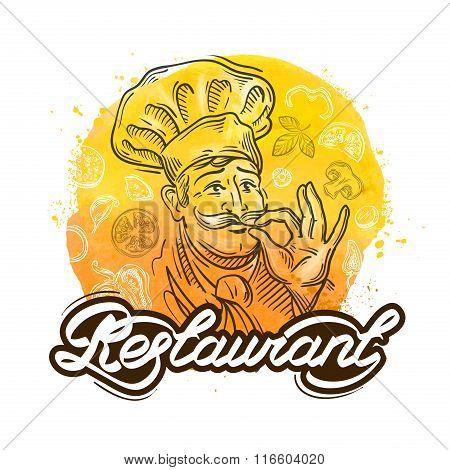 restaurant vector logo design template. cook, chef or menu icon