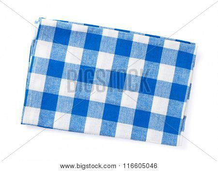 Kitchen towel. Isolated on white background