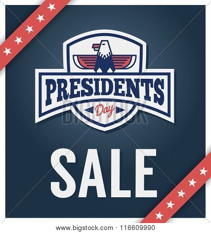 Presidents day sale banner for business promotional. Vector illustration poster
