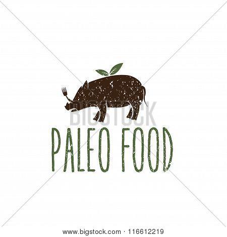 Paleo Food Hog Vector Design Template