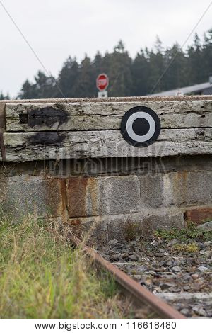 Buffers At Train Track