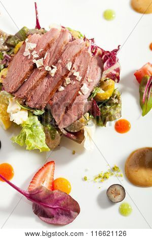 Duck Magret with Vegetables