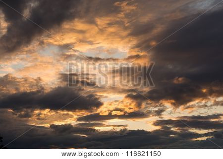 Eerie Evening Atmosphere In The Sky
