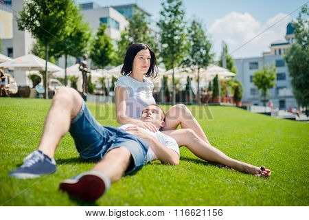 Dating - happy young couple