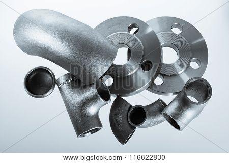 Steel welding fittings.