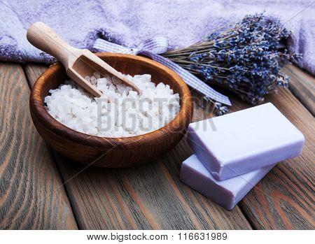 Handmade Lavender Soap And Salt