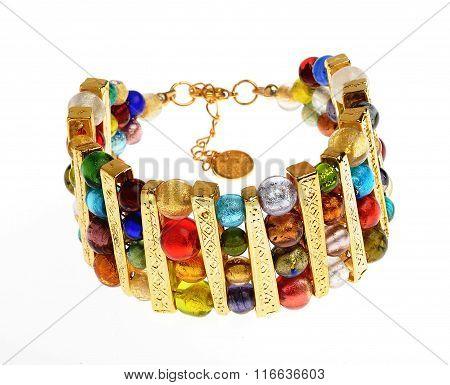 single beautiful  bracelet isolated on white background