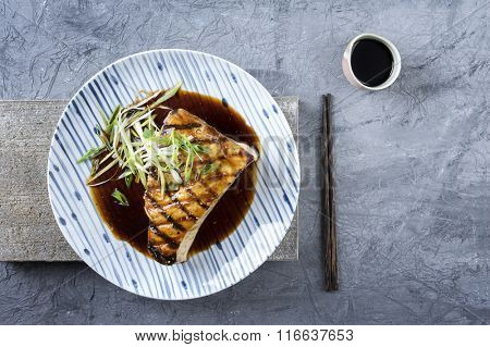 Swordfish Steak Teriyaki on Plate