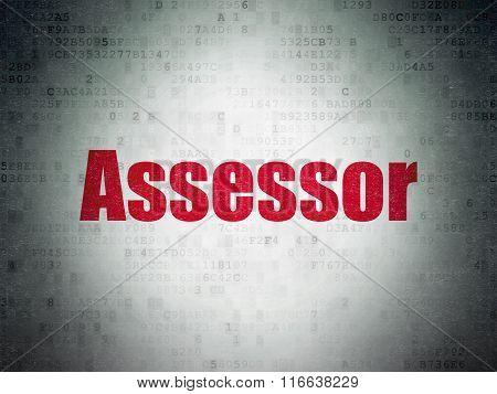 Insurance concept: Assessor on Digital Paper background