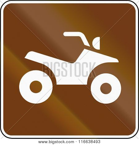United States MUTCD guide road sign - ATV. poster