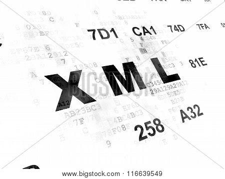 Programming concept: Xml on Digital background