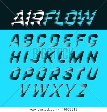 Airflow alphabet vector illustration