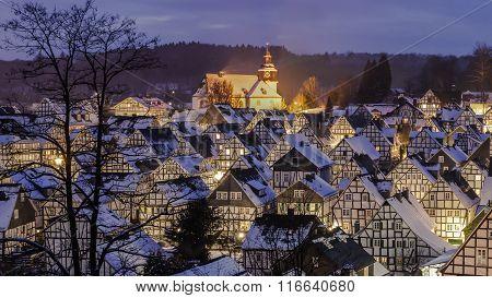 Nice winter village