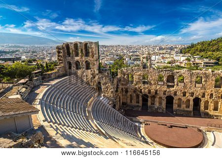 Ancient Theater In Greece, Athnes