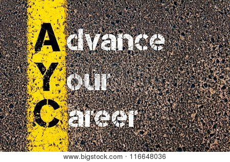 Business Acronym Ayc Advance Your Career