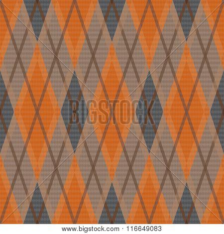 Rhombic Seamless Pattern In Dim Hues