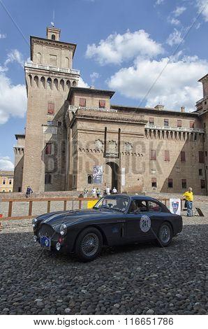Classic Car At The Start Of The Nuvolari Grand Prix