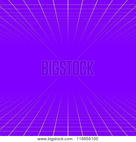 Fading and vanishing grid mesh 3d abstract background poster