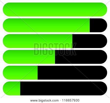 Horizontal Bars. Loading Bars, Progress Indicators. Completion.